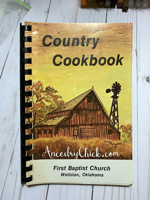 County Cookbook First Baptist Church Wellston - Ancestry Chick