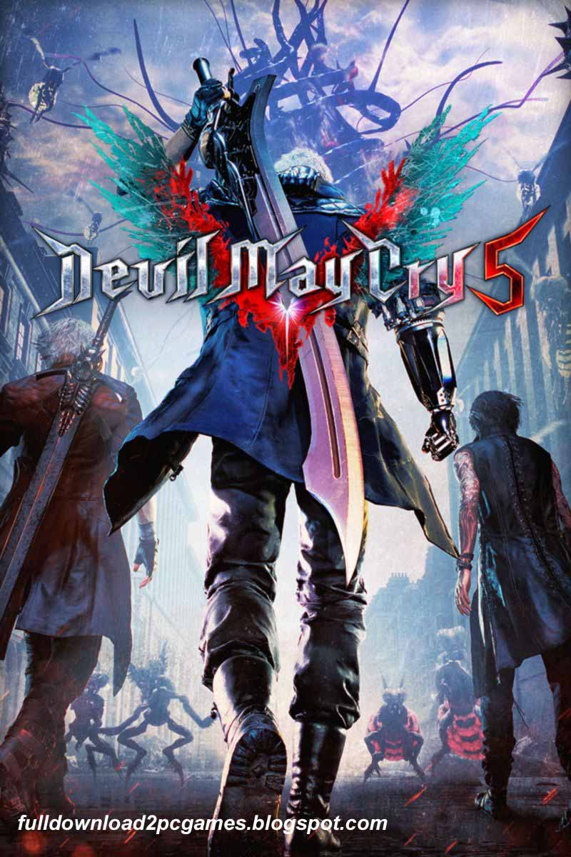 Adventure Video Game Developed And Published By Capcom Devil May Cry 5 Free Download PC Game