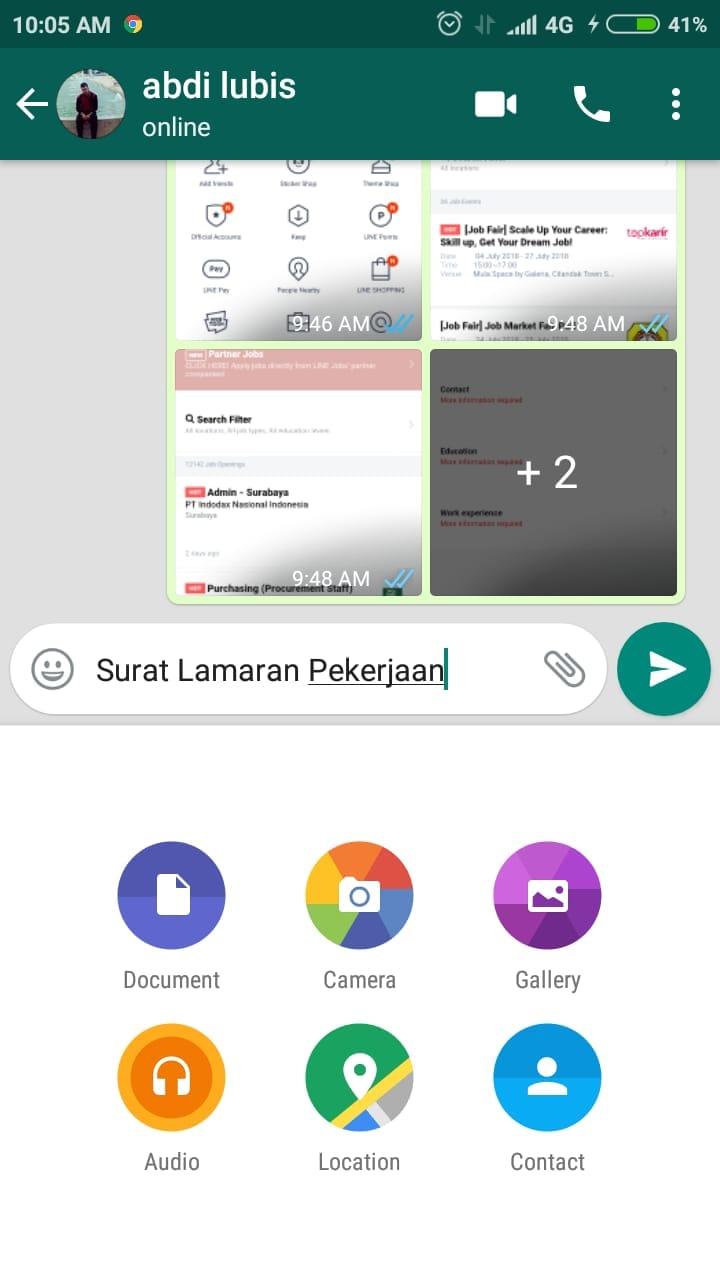 Cara Mengirim Lamaran Kerja Lewat Whatsapp