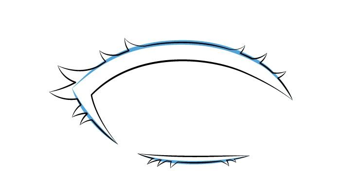 Gambar kurva bulu mata anime