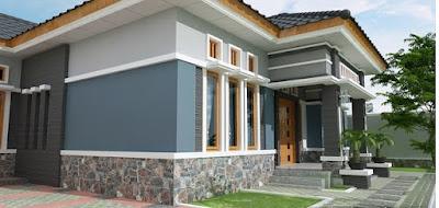 Model Dinding Teras Rumah Minimalis 2019 Dengan Pesona Batu Alam Yang Lebih Natural Dan Alami 3