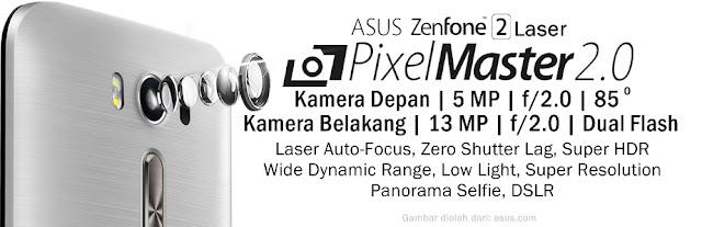 Spesifikasi dan Fitur Kamera ASUS ZenFone 2 Laser ZE500KL