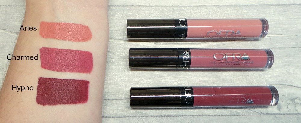 Ofra manny mua liquid lipsticks swatches