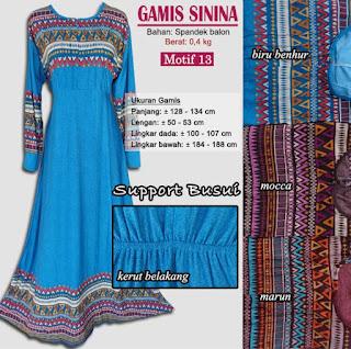 Gamis support busui cantik dan gaya - sinina motif 13