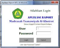 Aplikasi Raport MTs Al-Khoirot