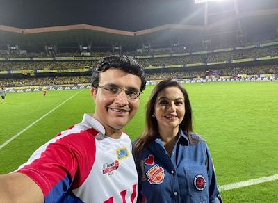 Would you become Mumbai Indians' coach?: Fans ask Sourav Ganguly after former India captain poses with ISL Chairperson Nita Ambani