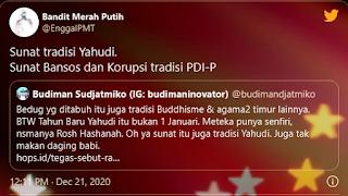"Budiman Nyinyiri UAS ""Sunat juga Tradisi Yahudi"", Netizen: Sunat Bansos Tradisi PDIP"