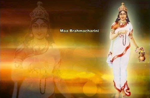 Maa Brahmacharini is worshiped on the second day of Navratri.