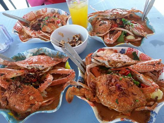 Gambar-Gambar Mee Udang, Mee Ketam Gerai Parit 30, Kuala Kurau