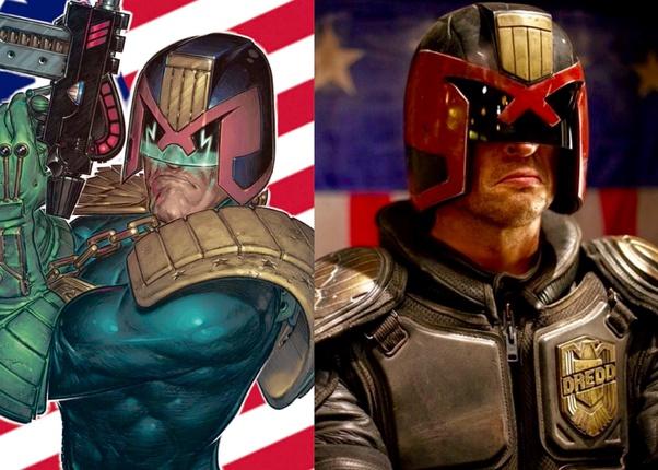Comic Book vs Movie visor comparison