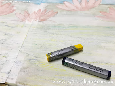 Haiku Watercolour Painting by Jenny James - Winsor and newton water colour sticks