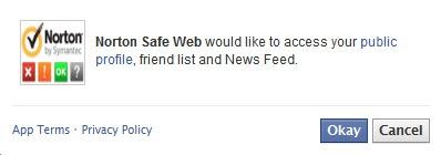 Norton access facebook