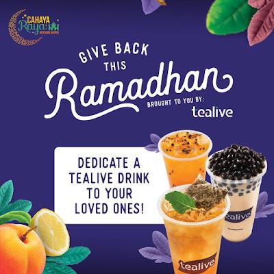 Tealive Asia Free Drink Ramadan Dedication Promo