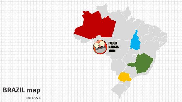 Brazil map silde PPT