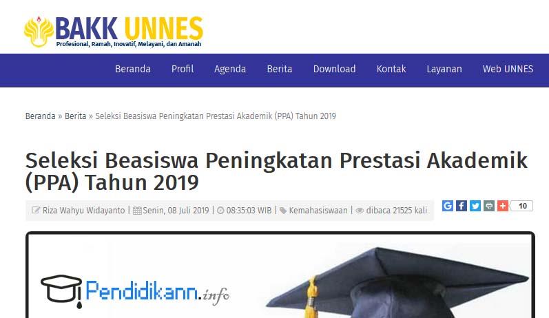 Beasiswa PPA UNNES Semarang Tarbaru