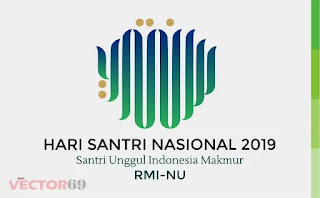 Logo Hari Santri Nasional (HSN) 2019 Santri Unggul Indonesia Makmur RMI-NU - Download Vector File CDR (CorelDraw)