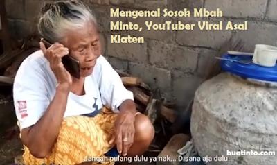Buat Info - Mengenal Sosok Mbah Minto, YouTuber Viral Asal Klaten Jawa Tengah