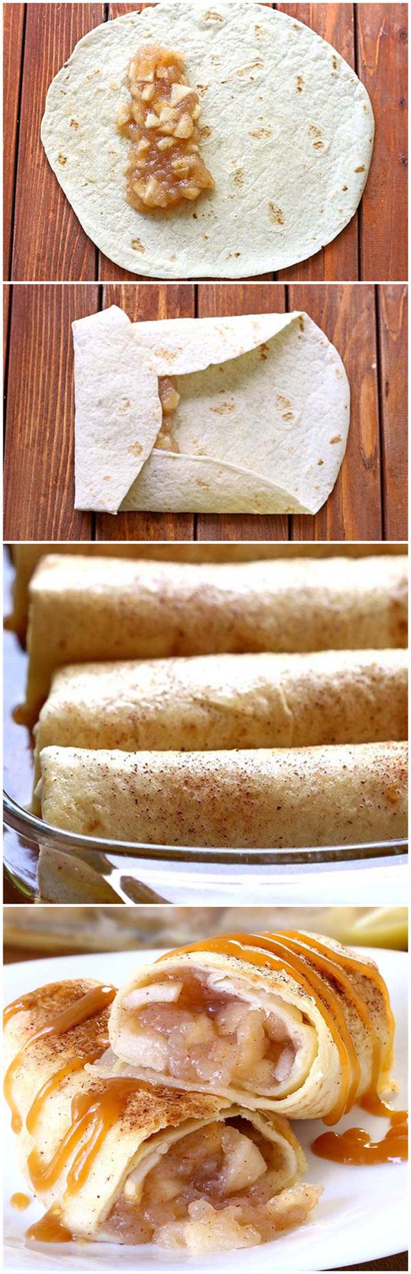 Apple Pie Enchiladas