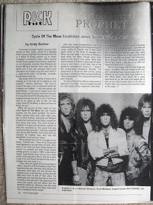 "Prophet story and photo from ""Hit Parader"" magazine"