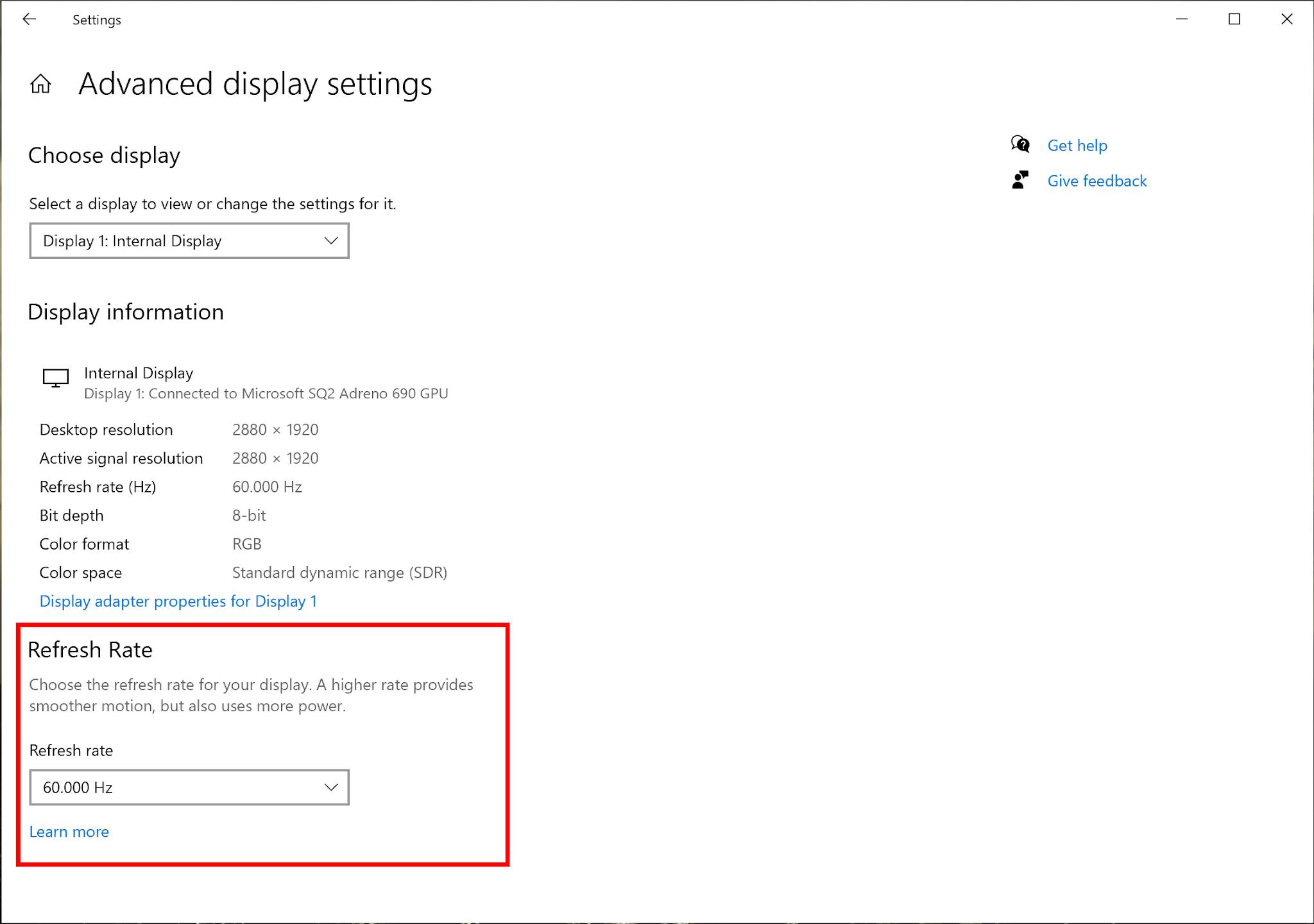 Modifica Refresh Rate in arrivo su Windows 10