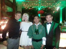 Tristan Cheng (center) with Steve Danielsen, Sophie Sumner and Tim Yap