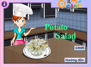 game hoc lam salad khoai tây ngon nhất