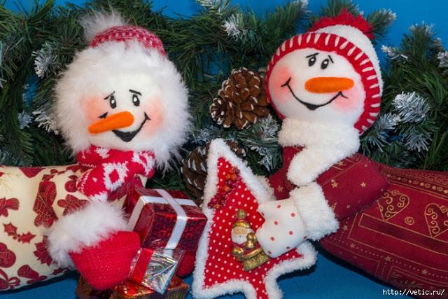 Manualidades muñecos de nieve grandes