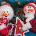 Manualidades muñecos de nieve de 30 cm
