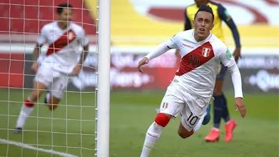 Perú derrotó a Ecuador 2-1 en Quito por las eliminatorias Qatar 2022