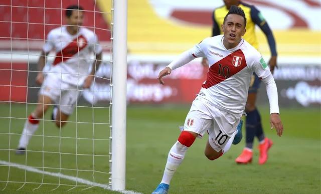 Perú derrotó a Ecuador 2-1 por las eliminatorias Qatar 2022