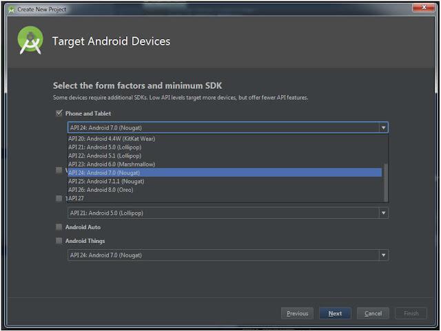 Memilih Target Android Device di Android Studio