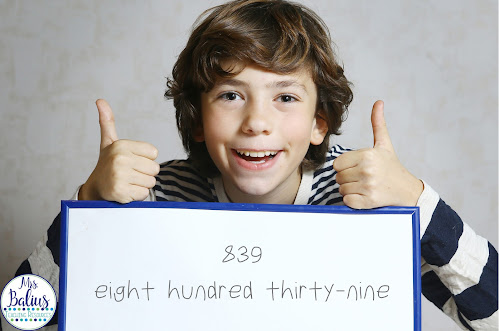 student shows number in standard form and word form