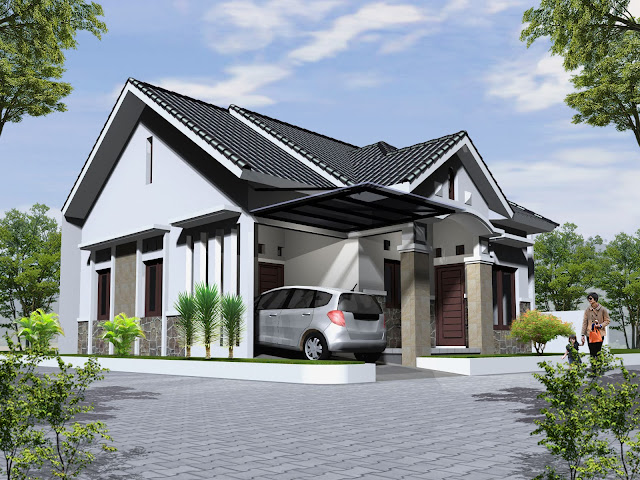 atap rumah minimalis dari asbes