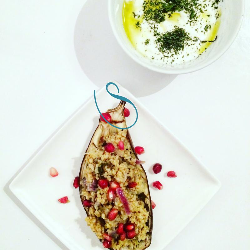 #Bulgur stuffed eggplant | Aubergines farcies au boulgour