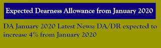 DA expected to increase Four percent from January 2020