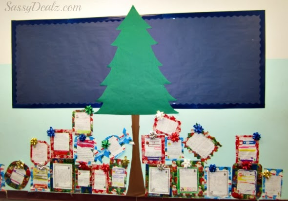 Diy Christmas Tree Presents Classroom Bulletin Board Idea Crafty