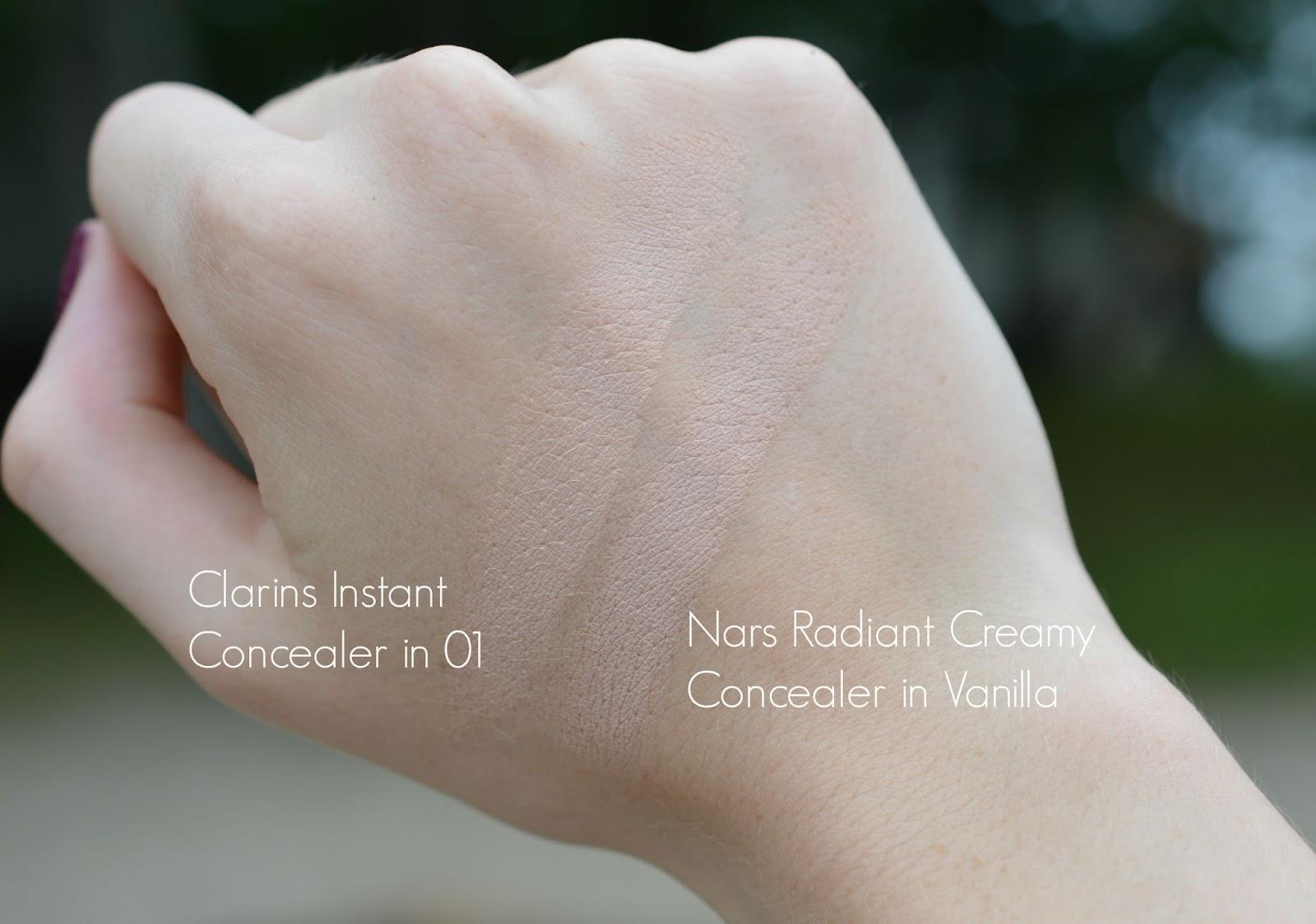 radiant creamy concealer vanilla swatch