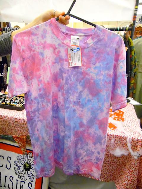 retro Tie Dye t shirt at lou lou's vintage fair, Cardiff | ACupofT