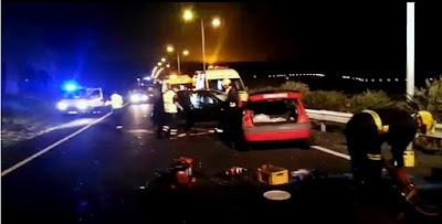 Una persona muerta y dos heridas graves en choque frontal en Lanzarote