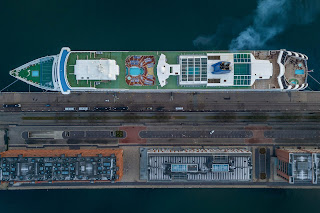 Matt Rakowski Cruise Ship Aurora Drone Picture