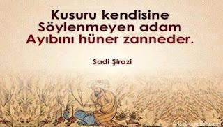 Sadi Şirazi Aşk Sözleri