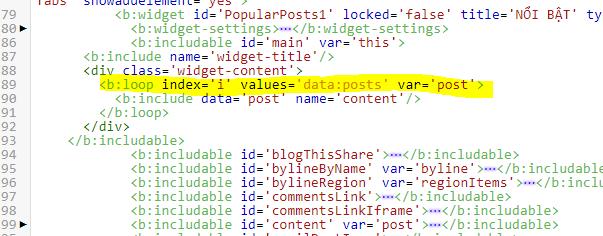 Hướng dẫn hiển thị bài đăng PopularPosts theo nhãn Label