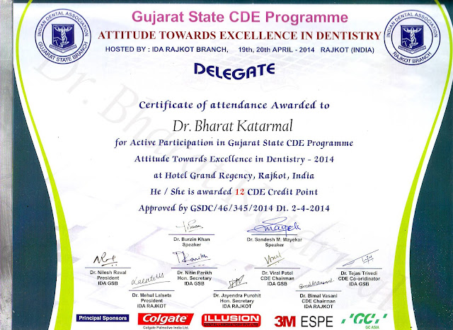 Gujarat State DCE Programme -Attitude Towards Excellence in Dentistry at Rajkot by Dr Burzin Khan and Dr. Sandesh Mayekar
