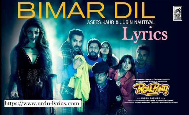 Bimar Dil Song Lyrics - Pagalpanti Movie ( 2019 )