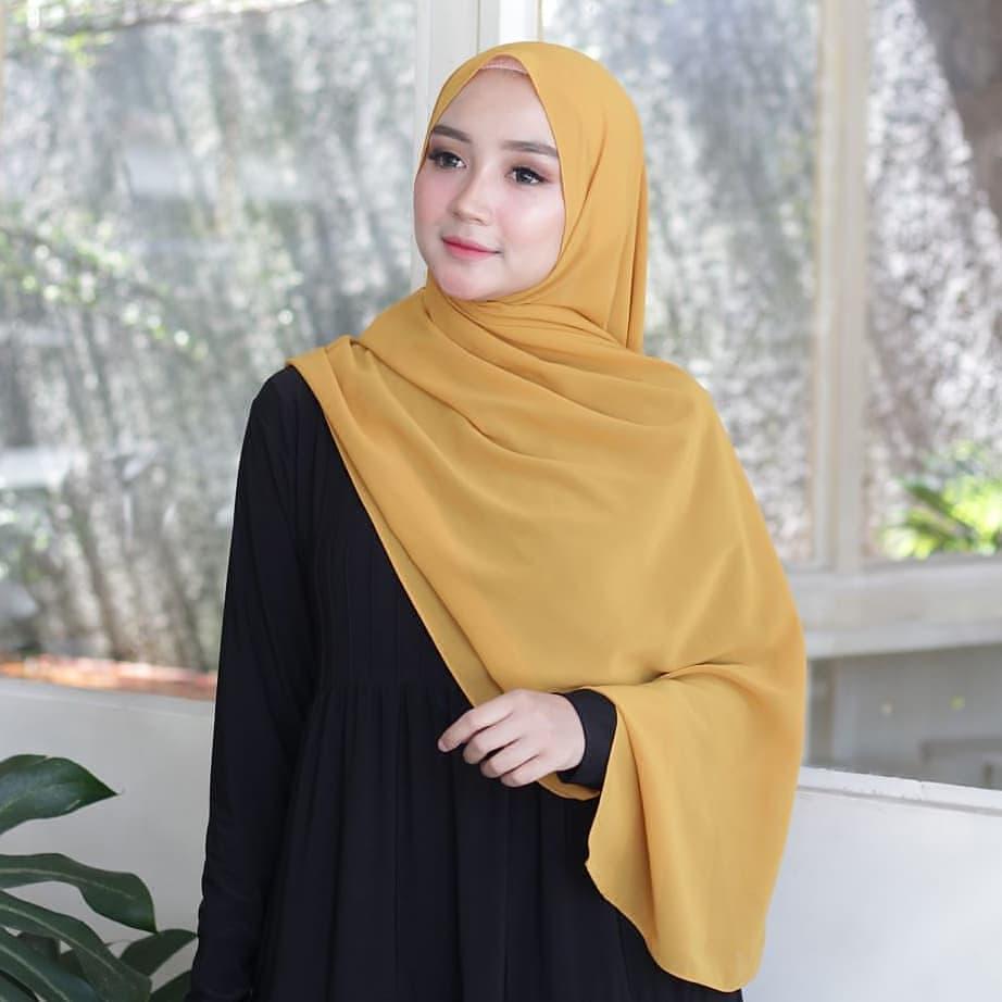 Grosir Jilbab Instan Ceruti Polos Termurah di Koja