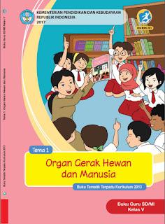 Buku Guru Kelas 5 Tema 1 Organ Gerak Hewan dan Manusia Kurikulum 2013 Revisi 2017