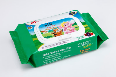 Carrie Junior Funtime Wipes, harga Carrie Junior Funtime Wipes, tisu basah carrie junior selamat,