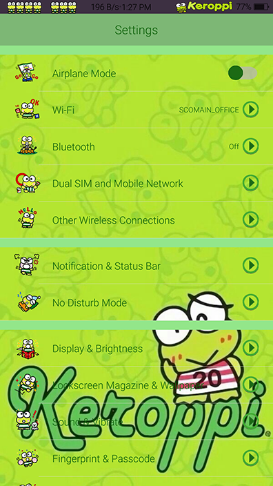 Oppo Theme: Sanrio Keroppi Theme