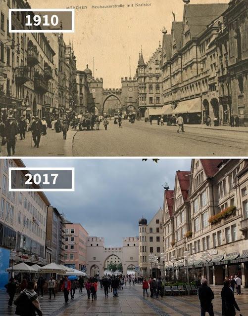 Antes y después Munich