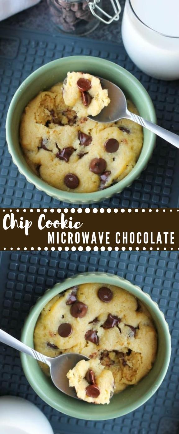 Microwave Chocolate Chip Cookie #dessert #pie #delicious #healthyrecipe #cookie
